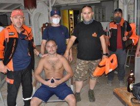 Muğla'da denizde kaybolan genç, 5 saat sonra karada bulundu