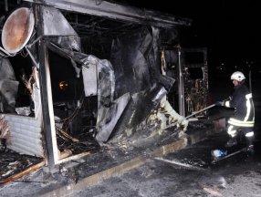 Kayseri'de işten çıkarılan şahıs, iş makinesi ve iş yerinin güvenlik kulübesini yaktı