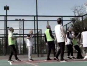 Fahrettin Altun paylaştı: Cumhurbaşkanı Erdoğan basket maçında