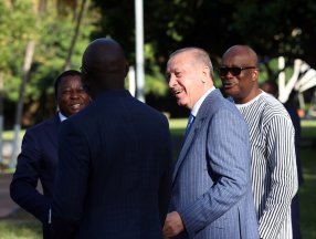Cumhurbaşkanı Erdoğan, üç Afrika lideriyle bir araya geldi